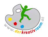 Logo des Kreativraums - man sieht ein Malerbreatt mit einer Figur darauf.